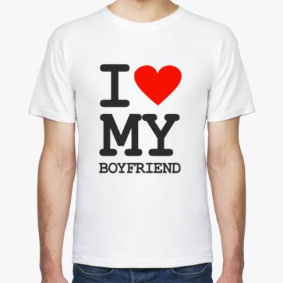 Футболка I love my boyfriend