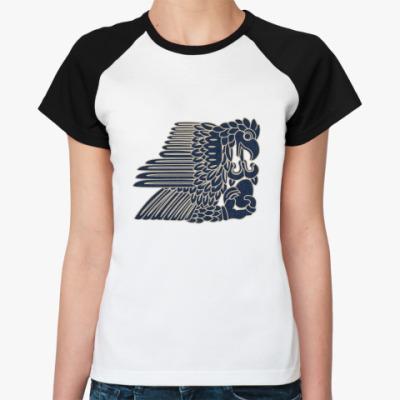 Женская футболка реглан   Орел