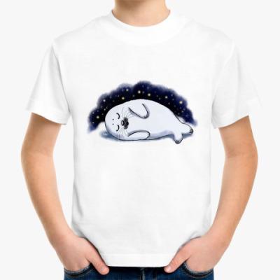 Детская футболка Спящий белёк