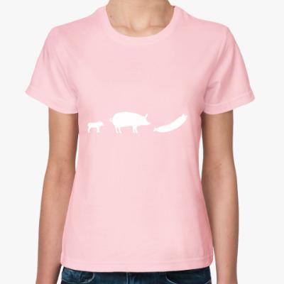 Женская футболка Женская футболка Sol's, розовая