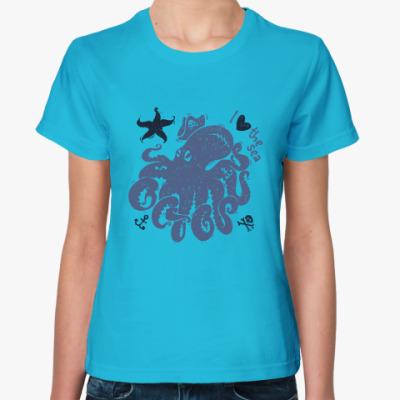 Женская футболка octopus