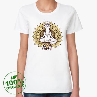 Женская футболка из органик-хлопка   'Хорошая карма'