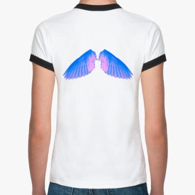 Женская футболка Ringer-T Ангелочек