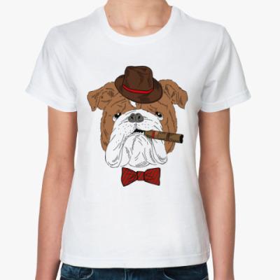 Классическая футболка Бокер с лорнетом