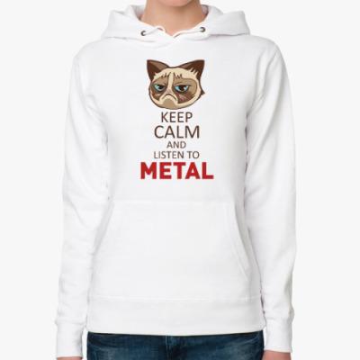 Женская толстовка худи Угрюмый кот Тард - Grumpy Cat