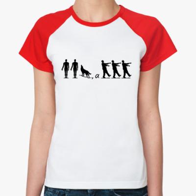 Женская футболка реглан Зомбилэнд
