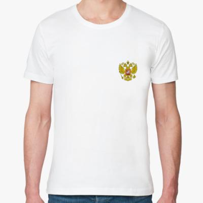 Футболка из органик-хлопка Россия герб