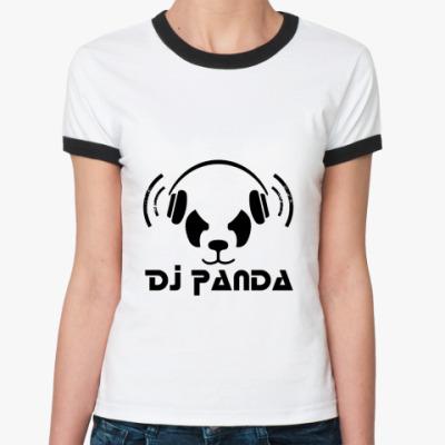 Женская футболка Ringer-T   Panda