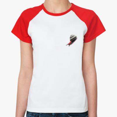 Женская футболка реглан Улитка