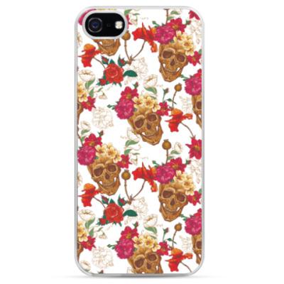 Чехол для iPhone Черепа в цветах