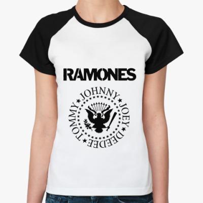 Женская футболка реглан Ramones