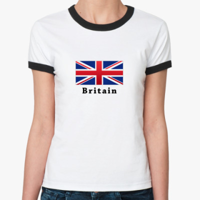 Женская футболка Ringer-T Union Jack