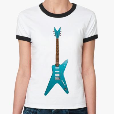 Женская футболка Ringer-T Гитара