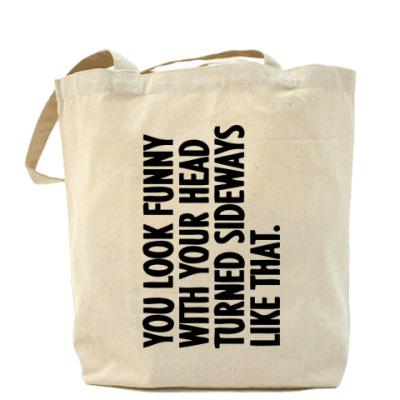 Сумка Холщовая сумка You look funny