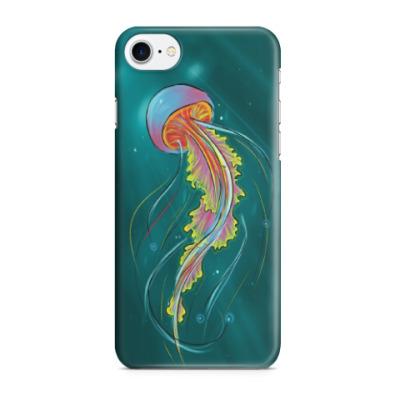Чехол для iPhone 7/8 Радужная медуза