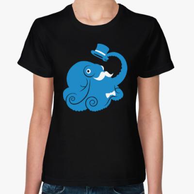Женская футболка Сэр осьминог