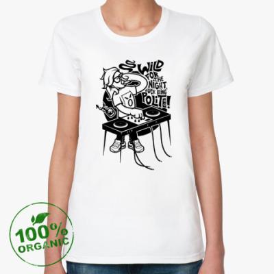 Женская футболка из органик-хлопка  Skrillex