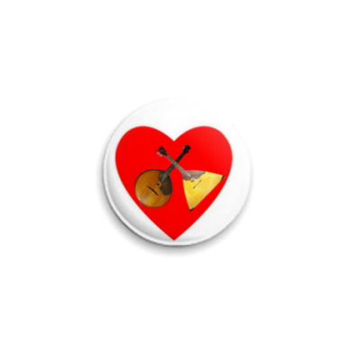 Значок 25мм  'Сердце народника'