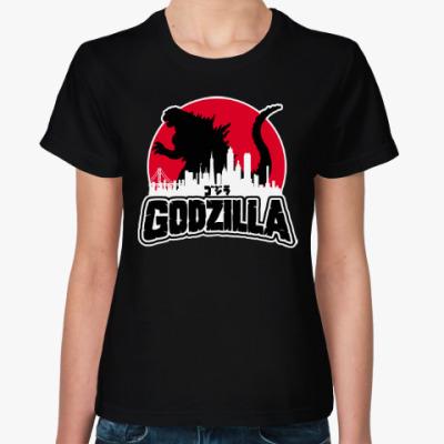 Женская футболка Годзилла