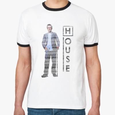 Футболка Ringer-T House из букв
