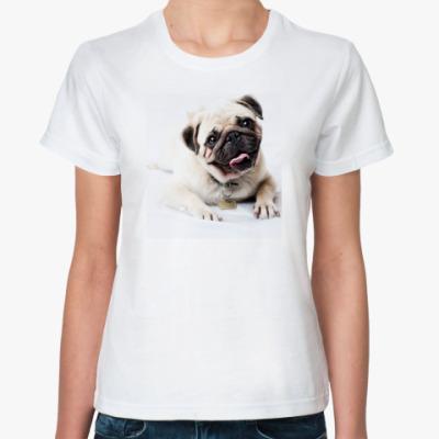 Классическая футболка Мопс