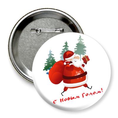 Значок 75мм Дед Moroz