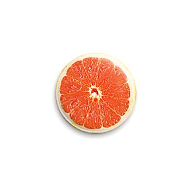 Значок 25мм Грейпфрут juicy