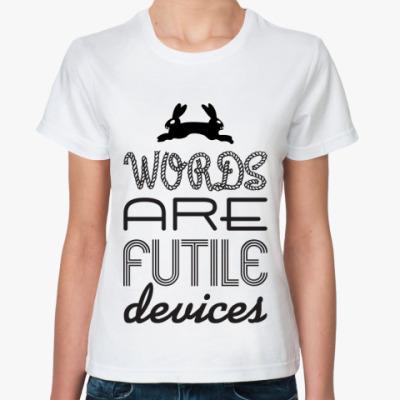 Классическая футболка 'Words'