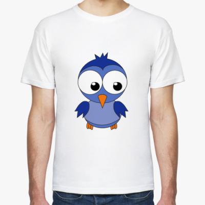 Футболка Синяя птичка