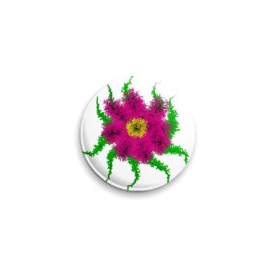 Значок 25мм Таинственный цветок