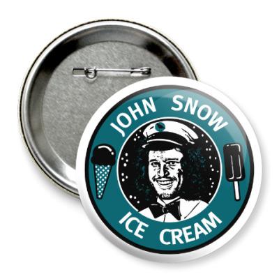 Значок 75мм Джон Сноу - Мороженое