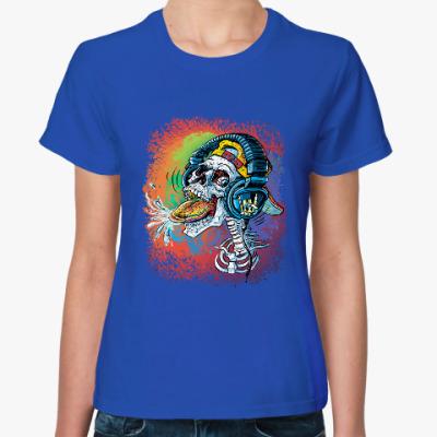 Женская футболка Rock Skull