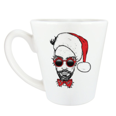 Чашка Латте Хипстер Санта