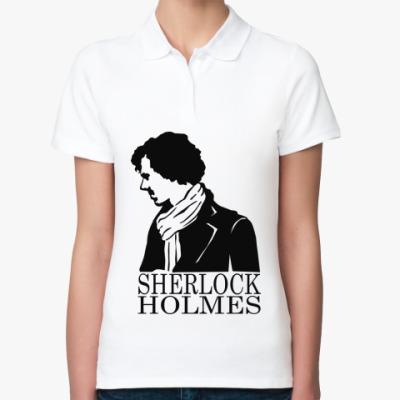 Женская рубашка поло Шерлок Холмс