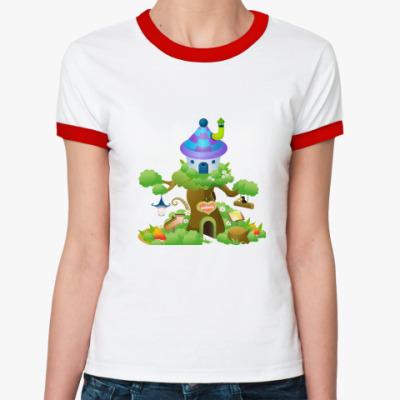 Женская футболка Ringer-T Сказочный дом
