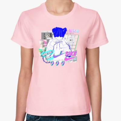 Женская футболка Vaporwave art