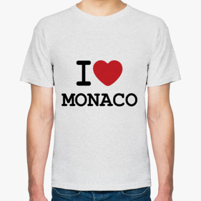 Футболка   I Love Monaco