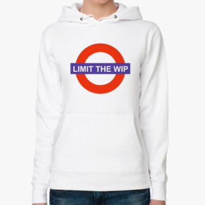 Женская толстовка худи Limit The WIP