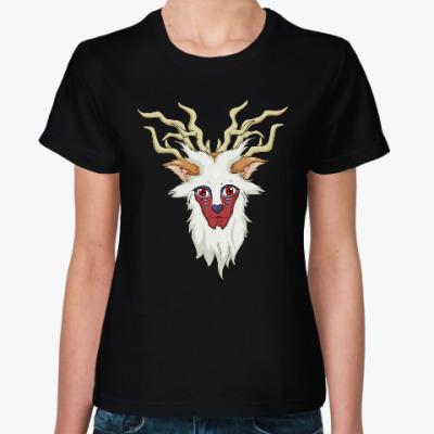 Женская футболка Принцесса Мононоке олень