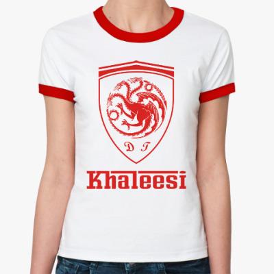 Женская футболка Ringer-T Khaleesi Ferrari