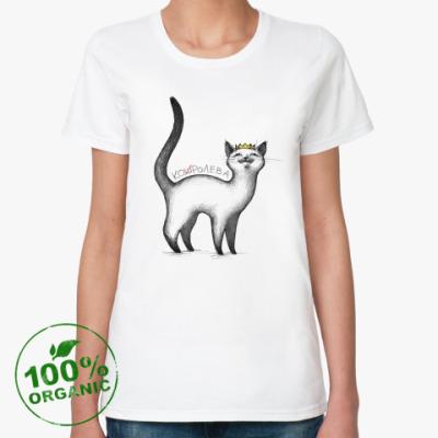 Женская футболка из органик-хлопка Кошролева