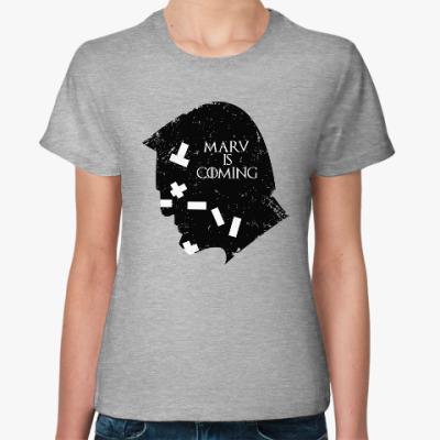 Женская футболка Марв близко