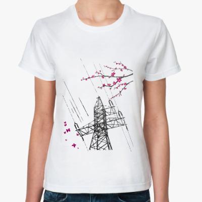 Классическая футболка ЛЭП. Сакура