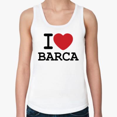 Женская майка I Love Barca