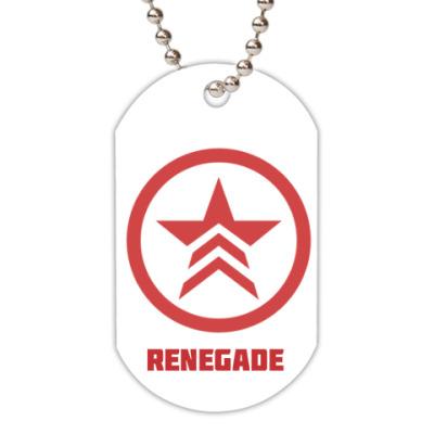 Жетон dog-tag Renegade mass effect