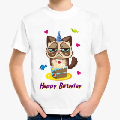 Детская футболка Угрюмый кот Тард - Grumpy Cat