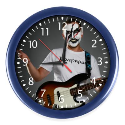 Настенные часы Часы, темно-синие (белые цифры)