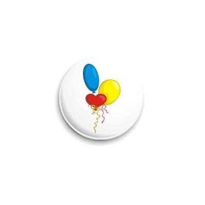Значок 25мм Воздушные шарики