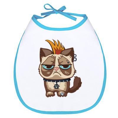 Слюнявчик Кот Тард (Grumpy Cat) неформал