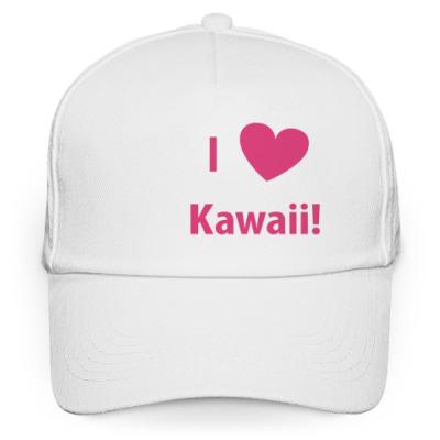 Кепка бейсболка I love kawaii!